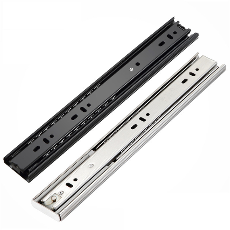 Free Shipping Drawer Track, Drawer Slide, Three Rail Drawer, Guide Rail, Slide Rail, Furniture Hardware Fittings, Slipway 22 inches drawer slide rail keyboard slide rail stainless steel three section wardrobe ball slide rail track hardware fittings