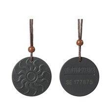 Анти EMF радиационная защита кулон ожерелье с положительной энергетикой скалярная сила Био наука отрицательные ионы кулон ожерелье черный турмалин