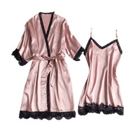 Sexy pajamas Woman sleeping clothes sexy Women Pajamas Sexy Underwear V Collar Robe Lingerie Sling Nightgown pajamas6.25 0.5