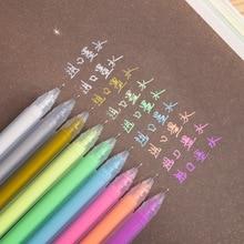 9 Colors/set Cute Glitter Pen 1.0mm Gel Pen large-capacity flash Graffiti Pens for Marker Writing Drawing Office School Supplies недорого