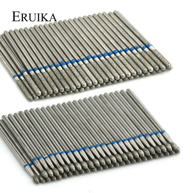 50pcs/pack Diamond Nail Drill Bit Rotary Burr Sets Electric Milling Cutters for Manicure Nail Clean Accessory Dead Skin Remove 2