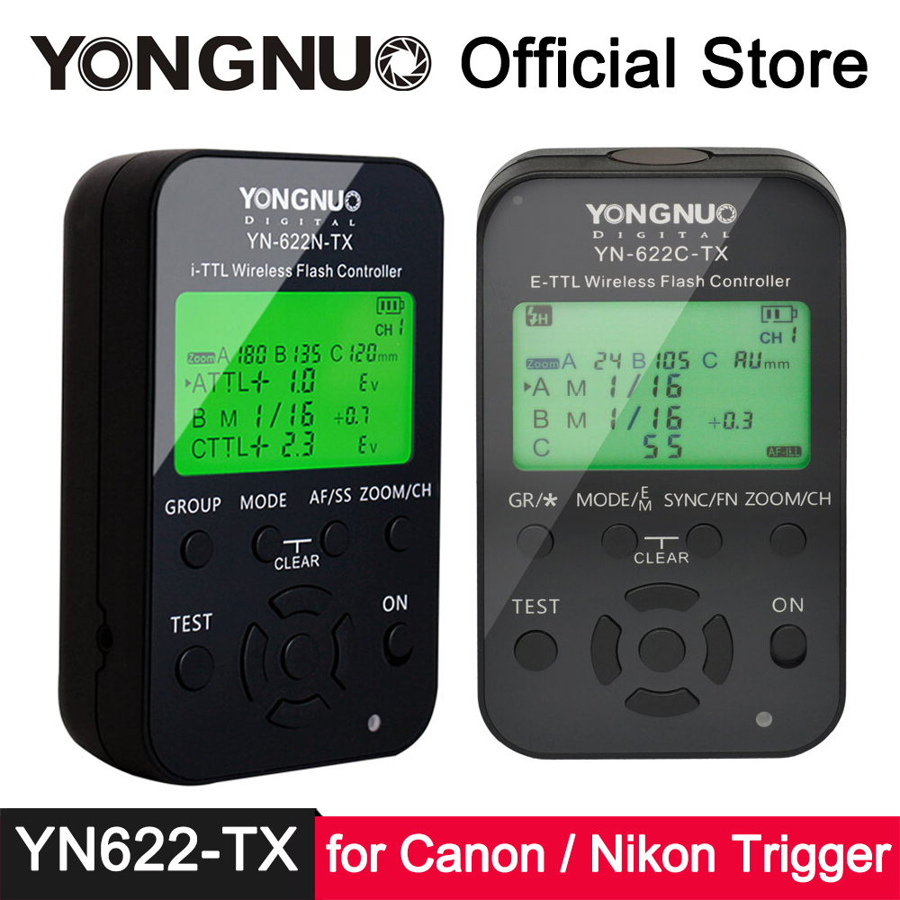 YONGNUO YN-622C-TX YN-622N-TX ETTL i-TTL Wireless Flash Trigger for Canon 580EX 550EX 430EX Nikon SB-910 SB-900 SB-800 SB-700 johns sb 1043