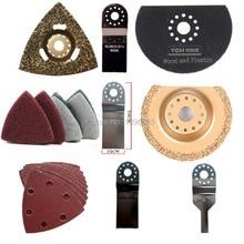 Luxury DIY accessory set, 33 pcs oscillating tool renovator saw blade set. Meet all your Renovation request .