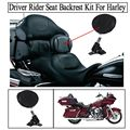 Motorcycle Adjustable Plug-In Driver Rider Seat Backrest Kit Motorcycle Seat Backrest Harley Backrest