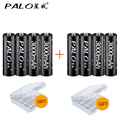 PALO High quality 8pcs 1.2V AA Rechargeable Batteries Baterias For Camera toy Cars and Free Shipping PALO Brand Battery