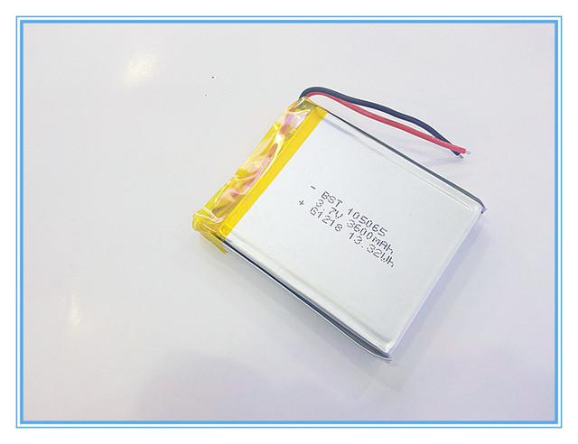 Batería de gran capacidad 3.7 V baterías recargables de navegador GPS MP4 celular 105065 batería