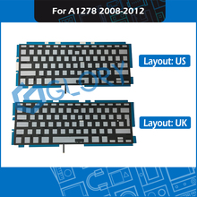 New A1278 Keyboard Backlight For Macbook Pro 13″ Unibody A1278 Keyboard Backlit Replacement 2008 2009 2010 2011 2012 Year