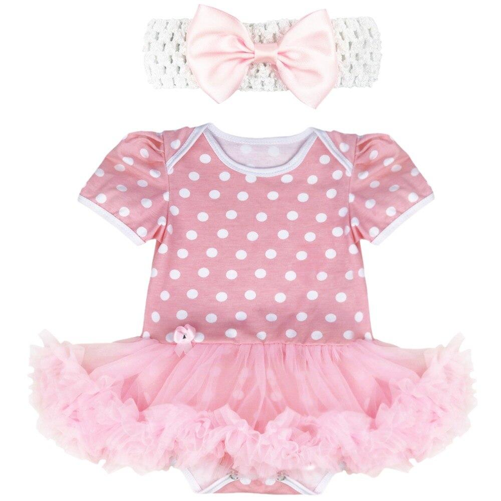 Iefiel Newborn Baby Girls Tutu Dress Rompers With Bow