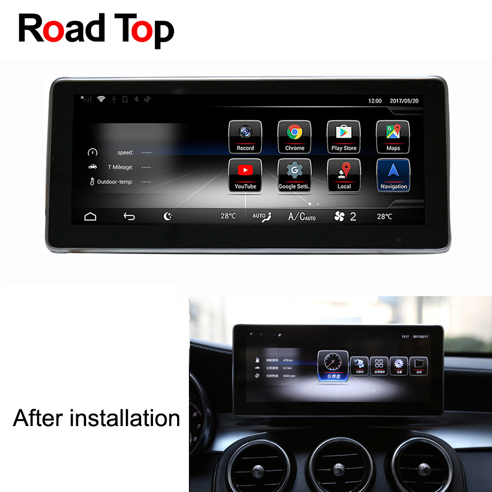 Android 7 Octa 8-Core 2 + 32g Autoradio GPS Navigation WiFi Bluetooth Tête Unité Écran pour mercedes Benz GLC 63 43 300 350 200 250