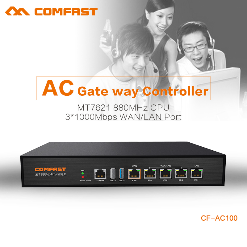 COMFAST CF-AC100 AC gate way controller MT7621 880Mhz Core Gigabit Gate way wifi project manager with 4*1000Mbps WAN/LAN port