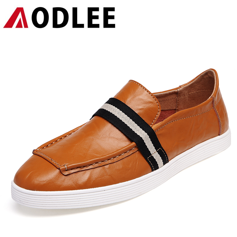 AODLEE Brand 2017 Fashion Men Loafers Slip on Superstar Men Shoes Genuine Leather Men's Flats Shoes Driving Shoes Zapatos Hombre fashion nature leather men casual shoes light breathable flats shoes slip on walking driving loafers zapatos hombre