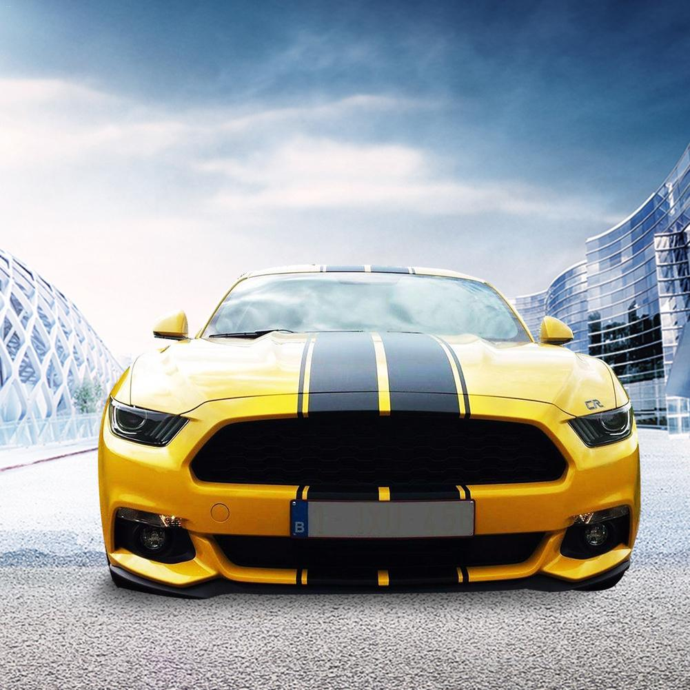 Universal Racing Style Dual Rally Stripes Graphics Vinyl Decals Mustang GT Style Car Full Body Sticker