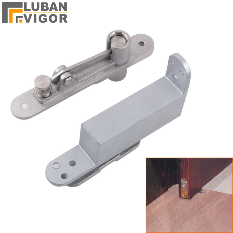 Stainless steel door shaft Invisible hinges auto closed with buffer function strong and sturdy door hardware