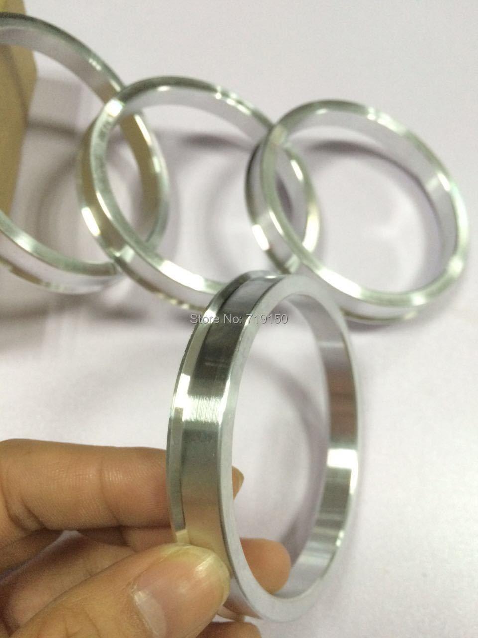 4gabali / partijas no 73.1 līdz 66.1 Rumbas centrālie gredzeni OD = 73.1mm ID = 66.1mm Alumīnija Riteņa rumbas gredzeni Bezmaksas piegāde