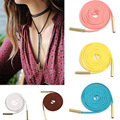Hot Cheap 13 Colors Imitation Suede Leather Cord Necklace Fashion Long Bow Choker Statement Necklaces for Women Collier Bijoux