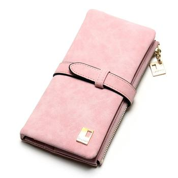 Women's Nubuck Leather Wallet Bags and Wallets Hot Promotions New Arrivals Women's Wallets Color: Pink