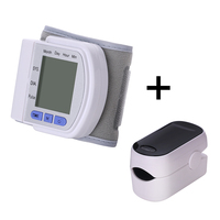 Automatic Wrist Blood Pressure Monitor tonometer wrist sphygmomanometer Finger Pulse Oximeter Saturometro Zuurstofmeter Vinger