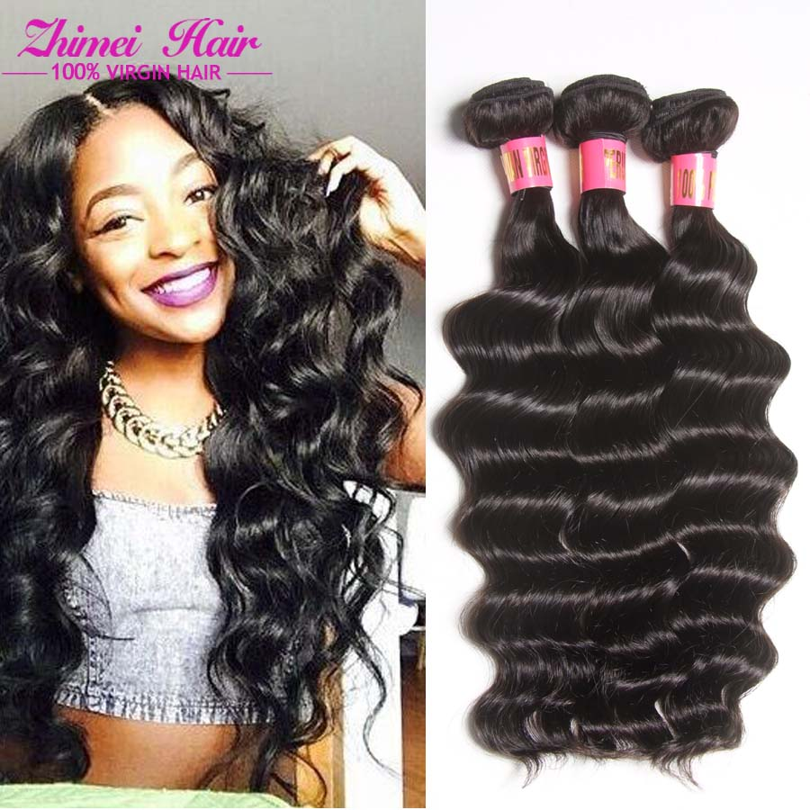 8a Malaysian Ocean Wave Virgin Hair 3bundle Remy Human Loose Deep Weave 100 Extension For On Aliexpress Alibaba