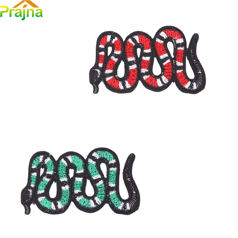 1PCS Punk Rock Embroidered Anime Snake Patch Badges Cheap Sew On Biker Hippie Patches For Clothes Stickers Kids Sewing Applique