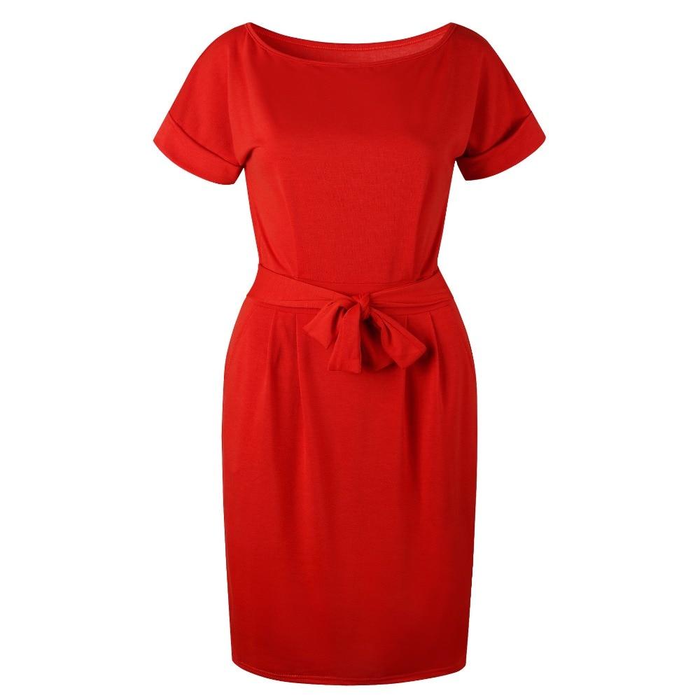 19 New Summer Fashion Women Casual Short Sleeve O-Neck Straight Black Gray Blue Dress Loose Plus Size Pocket Cotton Midi Dress 26