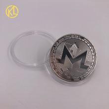 CO014 XMR Monero монеты памятные монеты для коллекции посеребренные Биткойн специальные эфириевые монеты