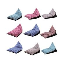 Adeeing Storage Bean Bag Large Chair Stripe Pouch Chair Sofa Stuffed Toy Storage Bag Back Support