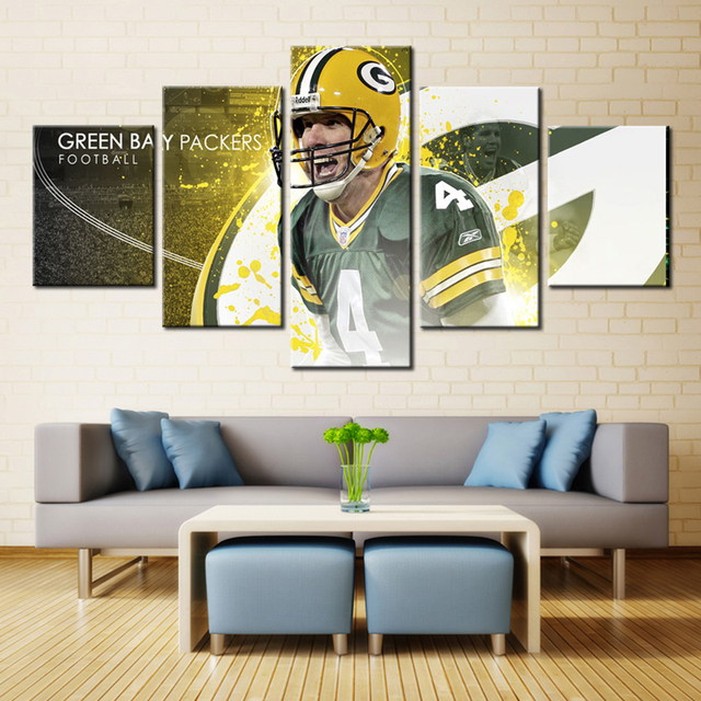 5 Piece Frameless Football Game Photo Wall Art Printing Oil Canvas Painting For Living Room Oil & 5 Piece Frameless Football Game Photo Wall Art Printing Oil Canvas ...