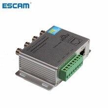 Пассивный видеосигнал ESCAM 4CH 8CH для камер TVI CVI AHD CCTV по витой паре UTP Video Balun 4CH трансивер BNC к UTP RJ45