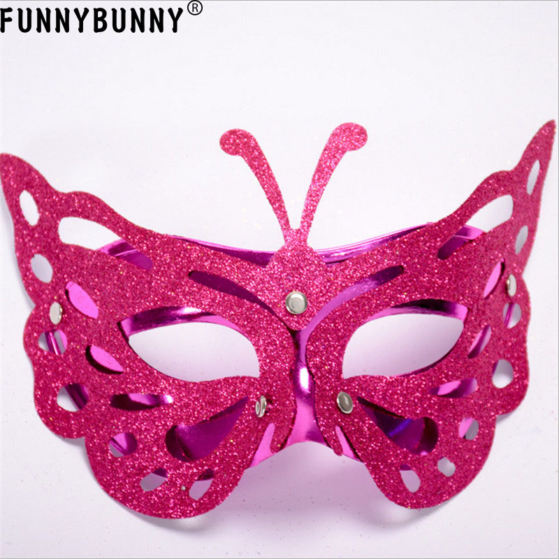 FUNNYBUNNY Butterfly Mask Venetian Masquerade Mask Event Party Ball Mardi Gars Halloween in Party Masks from Home Garden