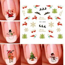 1 Pc Christmas Styles Patterns 3d Nail Art Stickers Snowflakes Cute Snowmen Decal Sticker 5 Types