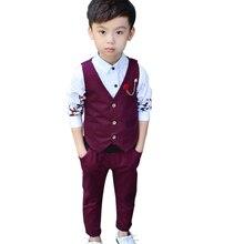 Children Wedding Suit for Boys Vest + Pants 2 Pieces Formal Suit