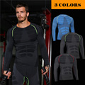 men t-shirts tight long sleeve quick dry bodybuilding tshirts compression crossfit t shirt breathable gymclothes muscle men MA04