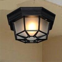 Американский стиль  железный потолочный светильник для парка  отеля  открытый светильник  уличный светильник  коридорный светильник для го...