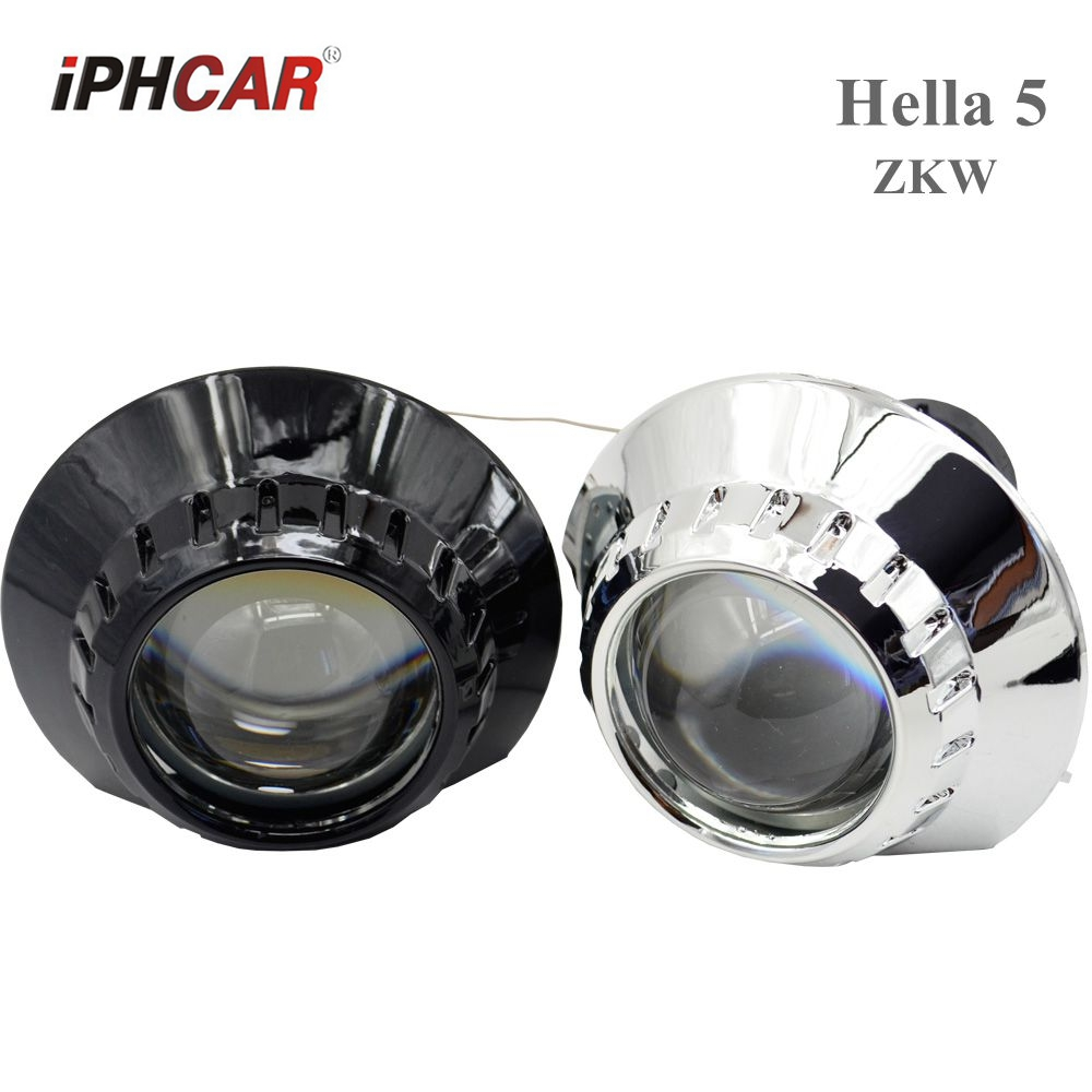 2pcs 3.0 inch hella 5 Bixenon hid Projector lens with shrouds headlight hid xenon kit bulb lamp D2S D1S D3S D4S Model Modify