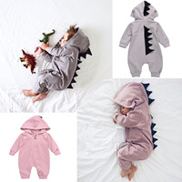 2017 Children Cartoon Style Baby Rompers Newborn Baby Boys Clothes Long Sleeve Hooded Cotton Baby Girls
