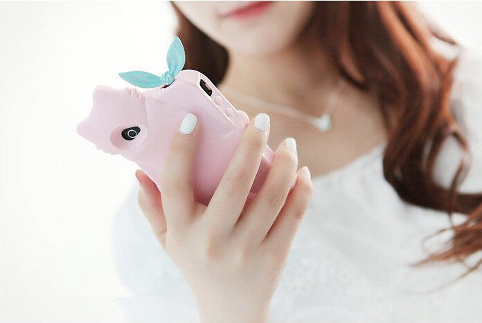 мода милый кролик уши мобильная пыли пробки t7055