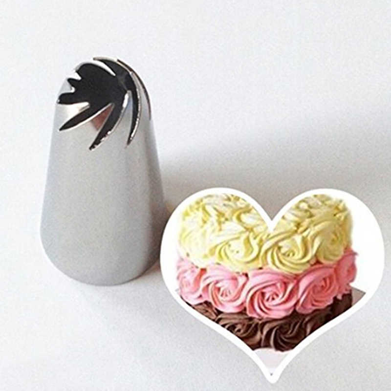 Stainless Steel Cream Rose Pastry Nozzles 3D Rose Form Icing Piping Baking  Tips Bakeware Cupcake Cake  Dessert Decorating