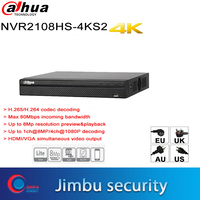 Dahua NVR Compact 1U Lite 4K H.265 NVR2108HS 4KS2 8CH Up To 8MP resolution preview Max 80Mbps incoming bandwidth