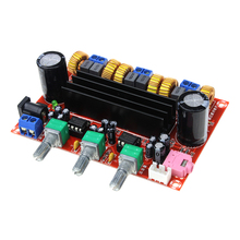 Free Shipping DC12V-24V 2*50W+100W XH-M139 2.1 Channel Digital Subwoofer Amplifier Board Chip TPA3116D2