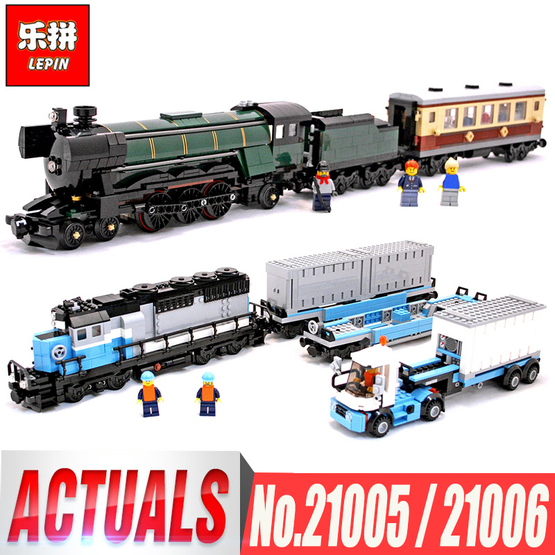 LEPIN 21005 Emerald Night Train Expert LEPIN 21006 Maersk Train Building Block Toys Compatible LegoINGlys 10194 10219 Boys Toys