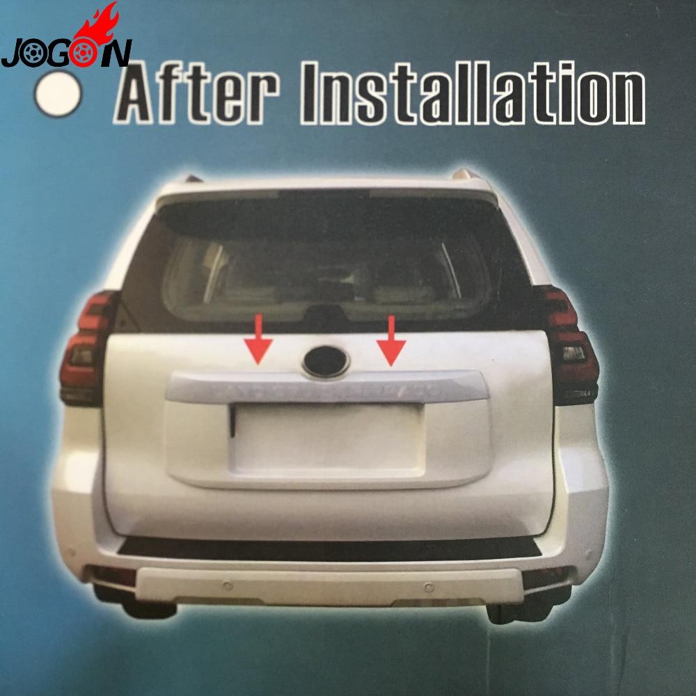 Couvercle de coffre arrière chromé ABS pour Toyota Land Cruiser Prado FJ150 2018