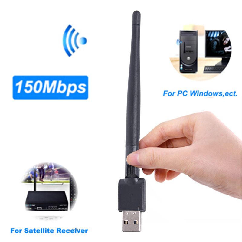 Mini USB Wifi Adapter High Speed Wi Fi Ethernet MT7601 150Mbp USB WiFi Receiver Wireless 802.11n/g/b For DVB S2 DVB T2 Decoder