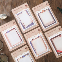 6Pcs/set Vintage Clipboard Shape Memo Pad Creative Stationery Kawaii Planner Sticky Note To Do List Office School Supplies