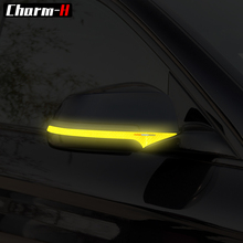 2pcs For BMW E60 F10 F11 F07 Rearview Mirror Reflective Tape Strip 5 Series GT Car Styling Anti-collision Stickers Accessories стоимость