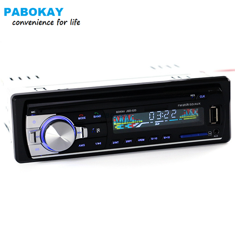 FREESHIPPING Car Radio Stereo Player Bluetooth Phone AUX IN MP3 FM USB 1 Din remote control