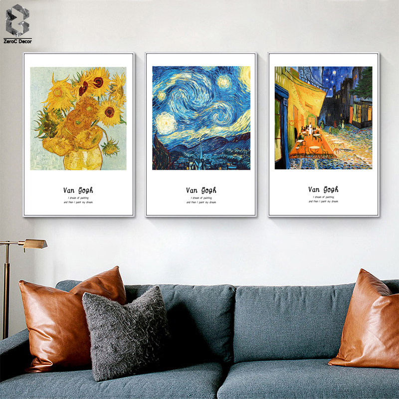 Van Gogh Famous Painting Canvas Umělecká reprodukce Plakát Wall Wall pro Living Room Decoration Abstract Home Decor