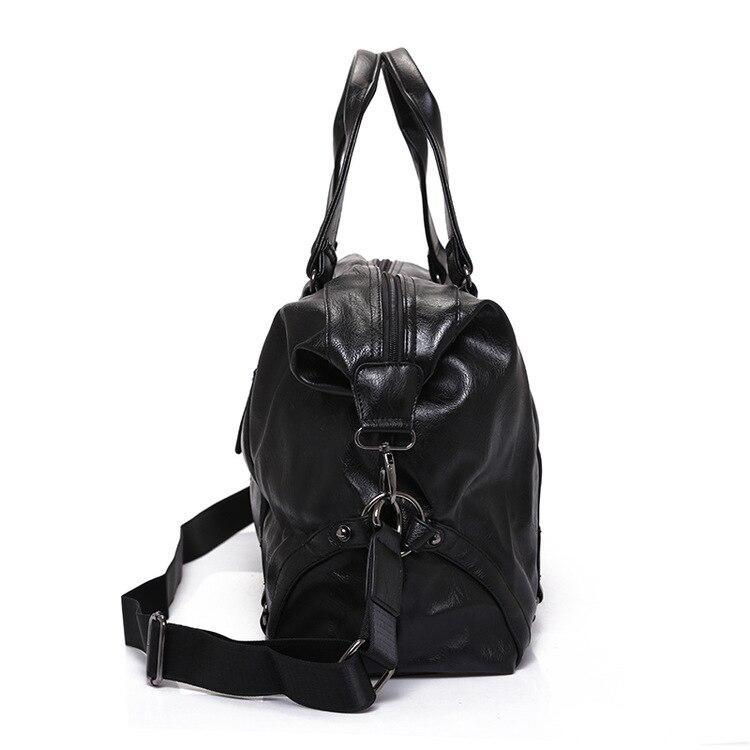 2019 nowych przyjazdowych skóra Split torby turystyczne dla mężczyzn duża pojemność przenośne mężczyzna torby na ramię męskie torebki na co dzień torba podróżna w Torby podróżne od Bagaże i torby na  Grupa 3