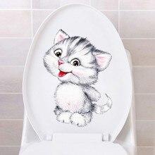 Посмотреть civid 20*30 см кошки настенные наклейки для детской комнаты ванная комната туалет домашний декор мультфильм настенные наклейки с животными diy Фреска Искусство
