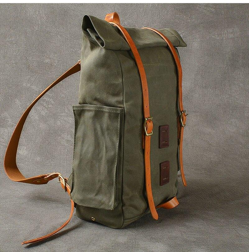 Grande capacidade mochila de viagem da lona
