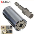 Binoax 2 Piece/Set Gator Grip Multi Function Ratchet Universal Socket 7-19mm Power Drill Adapter Car Hand Tools Repair Kit